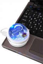 ZP-hub-1 USB разветвитель c картридером со съемным вкладышем Mister Christmas купить