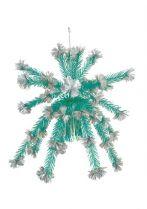 Z 678 Украшение фольгированное Mister Christmas (d=1,2 м; цвет: серебряный,голубой) купить
