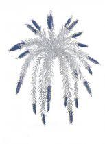 Z 688 Украшение фольгированное Mister Christmas (d=1,5 м; цвет: синий,серебряный) купить