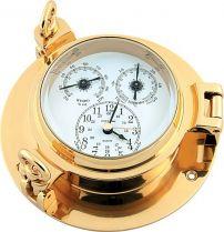 CK190S Часы настенные с термометром и гигрометром Иллюминатор Sea Power купить