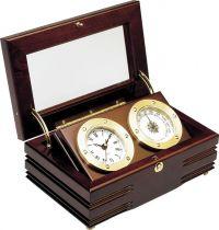 CK306 Часы с термометром в деревянной шкатулке Sea Power купить
