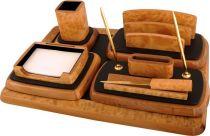 D148E^0 Набор настольный Woodmax (цвет: светло-коричневый; 6 предметов) купить