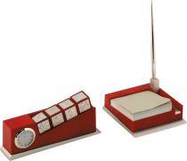 D96095/3 Набор настольный Olmecs (цвет: бордовый; 4 предмета) купить