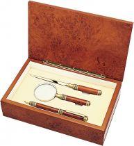 G 060B Набор подарочный Woodmax (ручка; лупа; нож для бумаги) купить