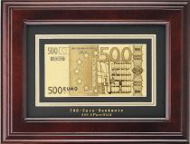 HB-045 Набор подарочный в деревянной раме 500 евро Banconota Dorata (1 банкнота) купить