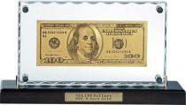 HB-079 Набор подарочный на подставке 100 долларов Banconota Dorata (1 банкнота) купить