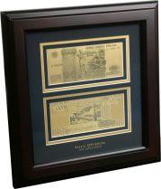 Набор подарочный в рамке 5000 рублей Banconota Dorata (2 банкноты) купить