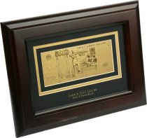 HB-145 Набор подарочный в деревянной раме 5000 рублей Banconota Dorata (1 банкнота) купить