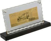 HB-146 Набор подарочный на подставке 5000 рублей Banconota Dorata (1 банкнота) купить