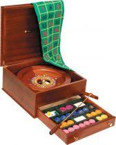 RR247 Набор подарочный для игры в рулетку Renzo Romagnoli (цвет: коричневый; дерево) купить