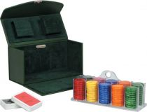 RR29 Набор для игры в покер Renzo Romagnoli (цвет: зеленый; кожа) купить