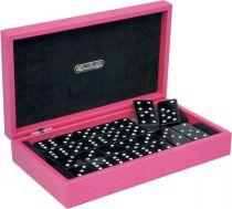 RR303 Домино в подарочной коробке Swarovski Renzo Romagnoli (цвет: розовый; кожа) купить