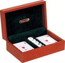 RR385 Набор для игры в покер Renzo Romagnoli (цвет: коричневый; кожа) купить