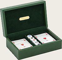 RR386 Набор для игры в покер Renzo Romagnoli (цвет: зеленый; кожа) купить