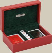 RR388 Набор для игры в покер Renzo Romagnoli (цвет: красный; кожа) купить