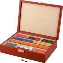 RR403 Набор для игры в покер Renzo Romagnoli (цвет: красный; кожа) купить