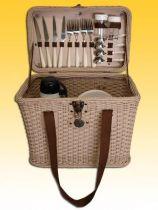 Набор для пикника на 2 персоны (корзина + 14 приборов) [M1236] купить