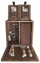 Набор для пикника на 2 персоны (корзина + 23 прибора) [1-3675] купить