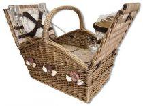 Набор для пикника на 4 персоны (корзина + 21 прибор) [1-3636] купить