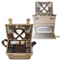 Набор для пикника на 4 персоны (корзина + 24 прибора) [1-3637] купить