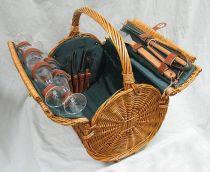 Набор для пикника на 4 персоны (корзина + 25 приборов) [M1146] купить