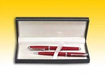 Подарочный набор ручек в черном футляре: шариковая + перьевая (красные) [3T331/1C] купить