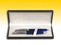 Подарочный набор ручек в черном футляре: шариковая + перьевая (синие) [3T331/5C] купить