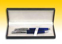 Подарочный набор ручек в черном футляре: шариковая + перьевая (синий перламутр) [8BO10/C5C] купить