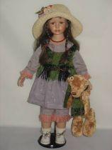 Кукла фарфоровая [WL-V-2628] купить