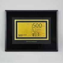 Картина с банкнотой 500 Euro [HB-045-TG] купить