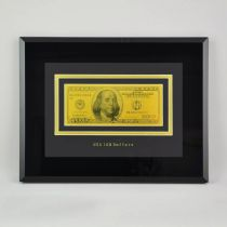 """Картина с банкнотой""""100$"""" [HB-077-TG] купить"""
