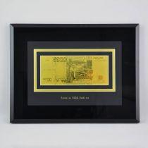 Картина с банкнотой 5000 руб. [HB-145-TG] купить