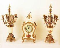 """Часы, 2 канделябра, стиль """"Лимонж"""" 18в. [401P/449P] купить"""