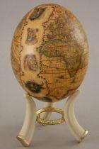 """Страусиное яйцо """"Карта мира"""" [104] купить"""