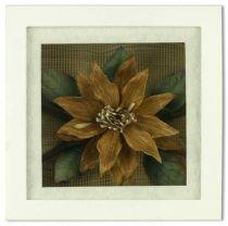 Цветок из коры дерева в рамке [SF-F8X8NAT325/3] купить