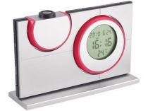 Часы с календарем, датой и термометром с проекцией времени и температуры на любую поверхность, красные купить