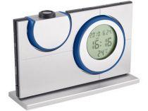 Часы с календарем, датой и термометром с проекцией времени и температуры на любую поверхность, синие купить