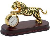 """Настольный прибор """"Тигр"""" с часами купить"""
