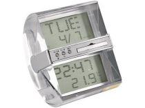 Часы «Мираж» с датой и термометром. В верхнем окне в зависимости от угла наклона можно увидеть либо дату, либо вставленную картинку или логотип купить
