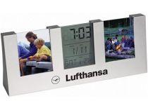 Часы с термометром, датой и двумя рамками для фотографий 4х5 см купить