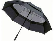 Зонт-трость Slazenger с двойным куполом и конструкцией повышенной прочности, черный от Oma-Promo, Art. o1_10900300 Promo