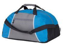 Сумка спортивная Slazenger с одним отделением и передним карманом на молнии, синяя/серая от Oma-Promo, Art. o1_11941702 Promo