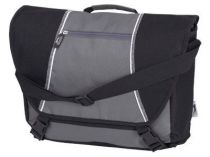 Сумка Slazenger с ремнем на плечо и карманами для персональных аксессуаров, черная/серая от Oma-Promo, Art. o1_11941900 Promo