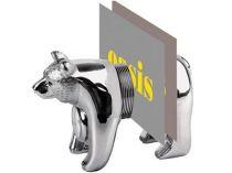 Часы-подставка под визитки «Медведь». Медведь может стоять на четырех лапах или сидеть купить