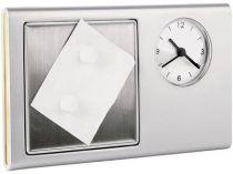 Часы с рамкой для фотографии 6х6 см, большим полем под нанесение и магнитной доской для крепления сообщений купить