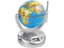 Часы с радио и вращающимся глобусом. На дисплее отображается время или длина волны от Oma-Promo, Art. o1_212900 Promo