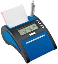 USB Hub на 4 порта с часами, калькулятором, календарем и рамкой для фотографии 10х5 см, синий купить