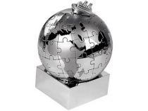 Паззл в виде земного шара с кораблем купить