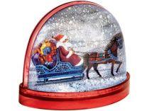 Магнит с «падающим» снегом и возможностью вставки любой картинки, красный купить