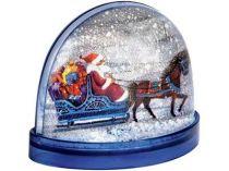 Магнит с «падающим» снегом и возможностью вставки любой картинки, синий купить